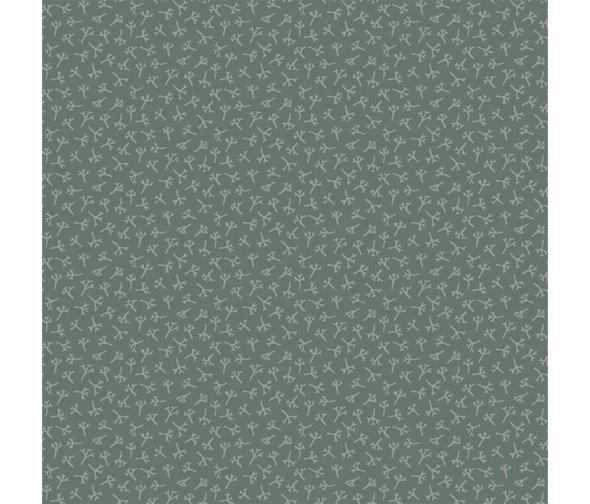Henry Glass - Anni Downs - Tealicious - Tea Leaf Texture - DK Blue