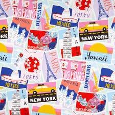 Alexander Henry - De Leon Designs Group - Wish You Were Here - Blush