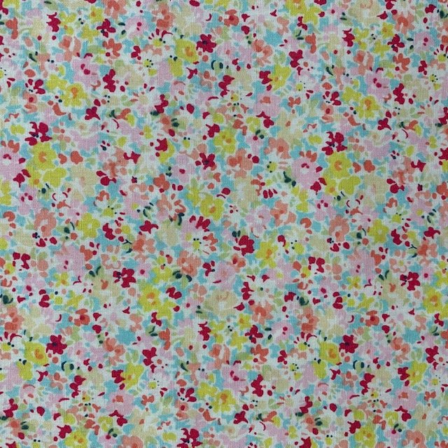 Sevenberry - Mini Floral - Pink on Blue