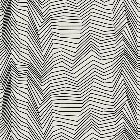 RJR Fabrics - Gray Matter - Zig Zag - Black on Ivory