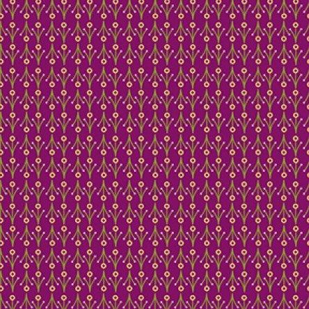 Clothworks - Summer Sampler - Nancy Nicholson - Mini Floral - Light Wine