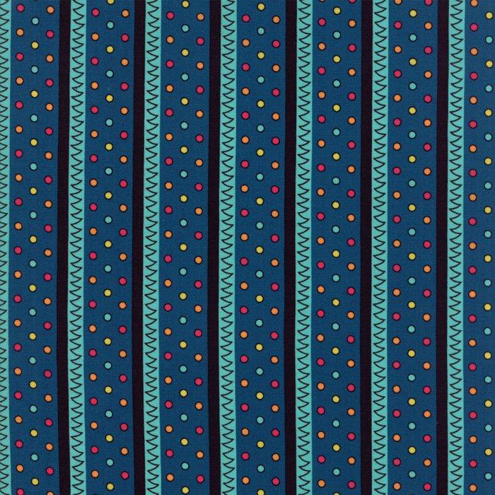 Moda - Jen Kingwell - Beach Road - Zig Zag - Prussian Blue