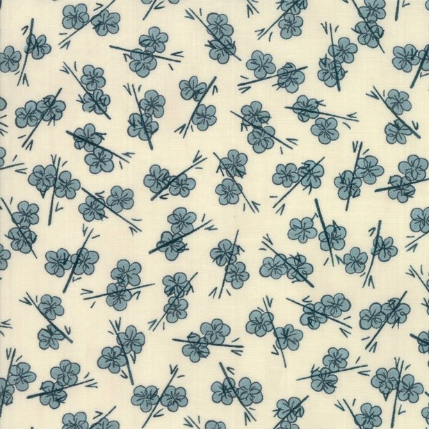 Moda - Janet Clare - Origami - Novelty Plum Blossom - Teal