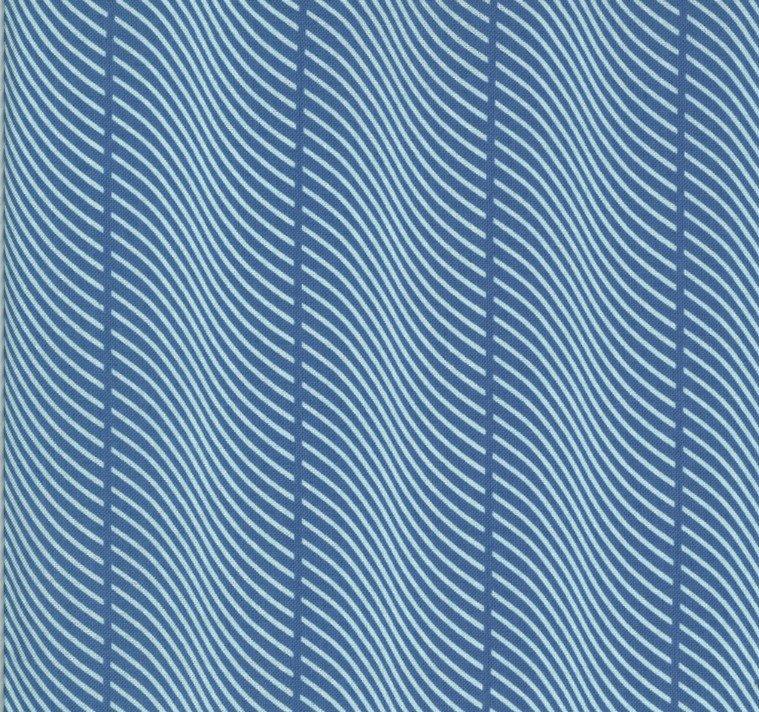 Moda - Jen Kingwell - Winkipop - Deep Water Blue Waves