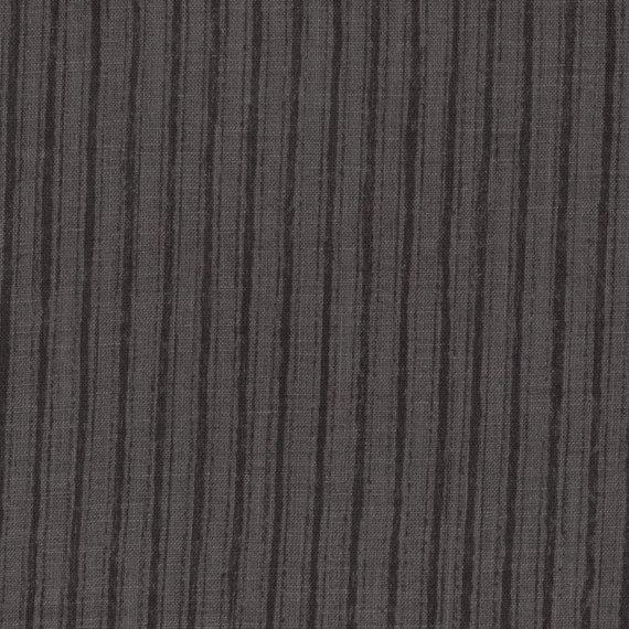 Kokka Fabrics - NaniIRO Camino - Linen Sheer - Black Stripe on Grey