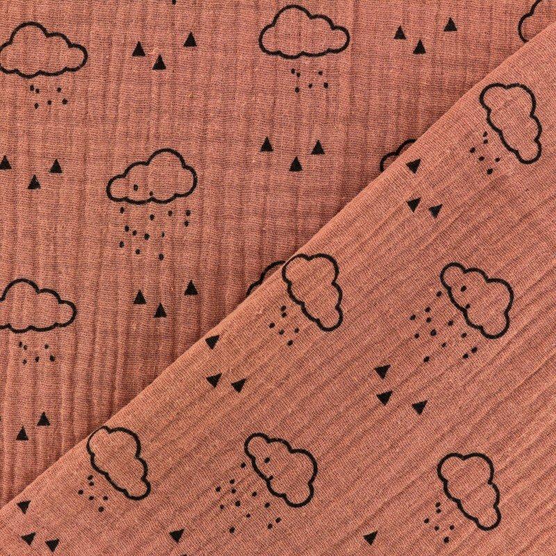 Volutas - Gaufree Double Gauze - Rain Clouds - Bleu Jean