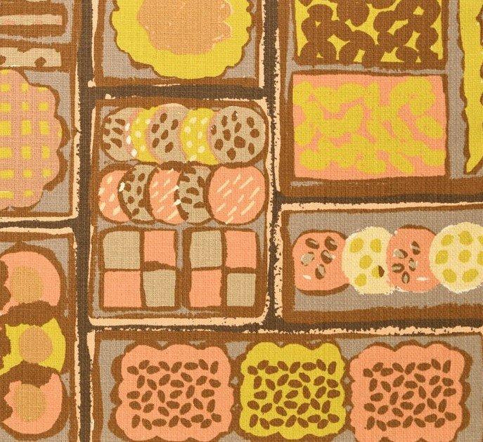 Kokka Fabrics - Oyatsu Aco Sakamoto - Cookie Can - Brown