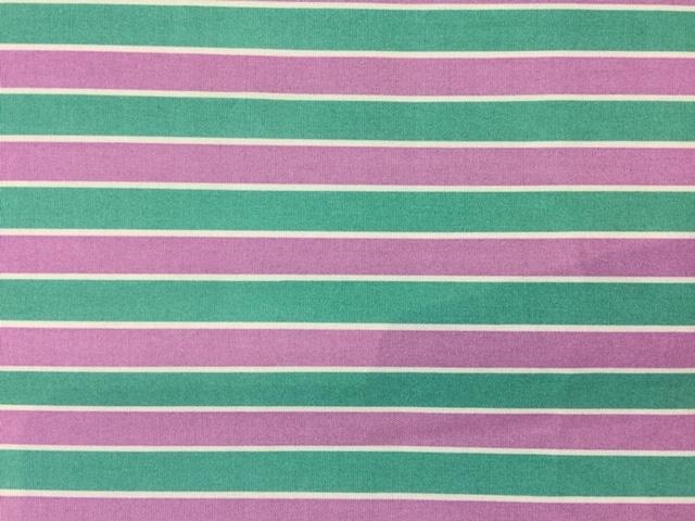 Sevenberry - Three Colour Stripes - Purple Gap Aqua