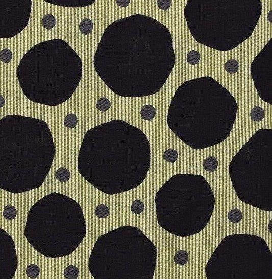 Kokka Fabrics - Trefle - Linen Canvas - Splodge Stripe - Dark
