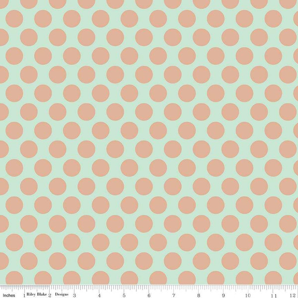 Riley Blake - Dani Mogstad - Glam Girl - Large Dots - Mint Sparkle