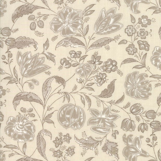 French General - Chafacarni - Pearle - Floral Taupe