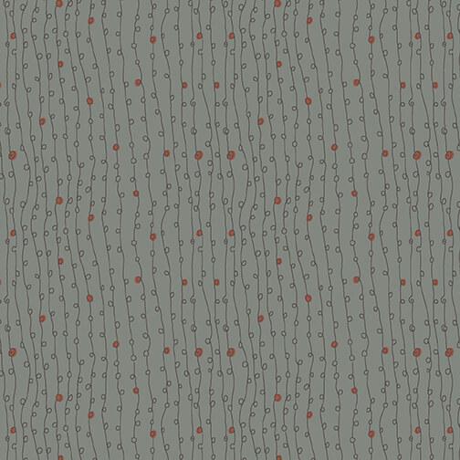 Henry Glass - Anni Downs - Winter Wonderland - Dot Vine - Medium Blue
