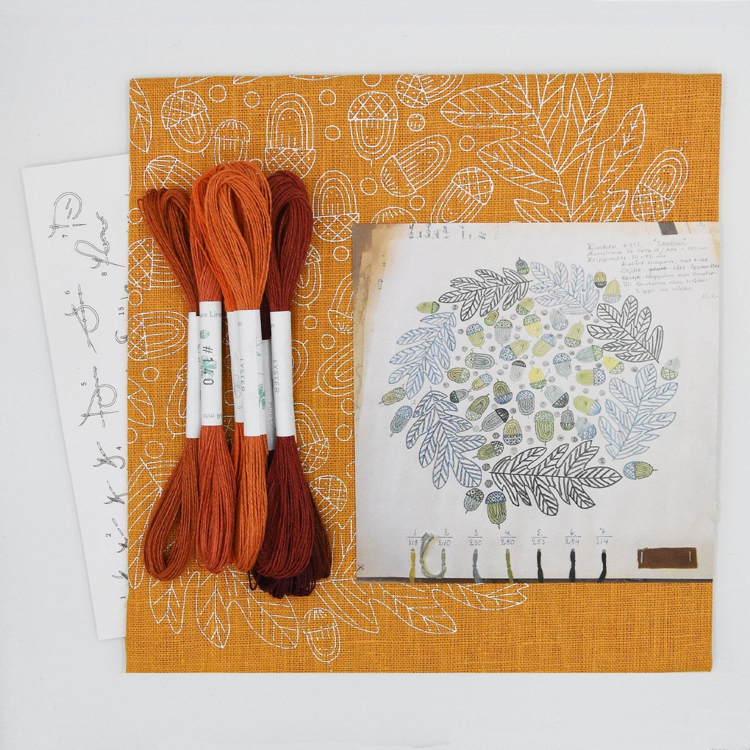 Linladan - Acorn - Swedish Embroidery Kit 25