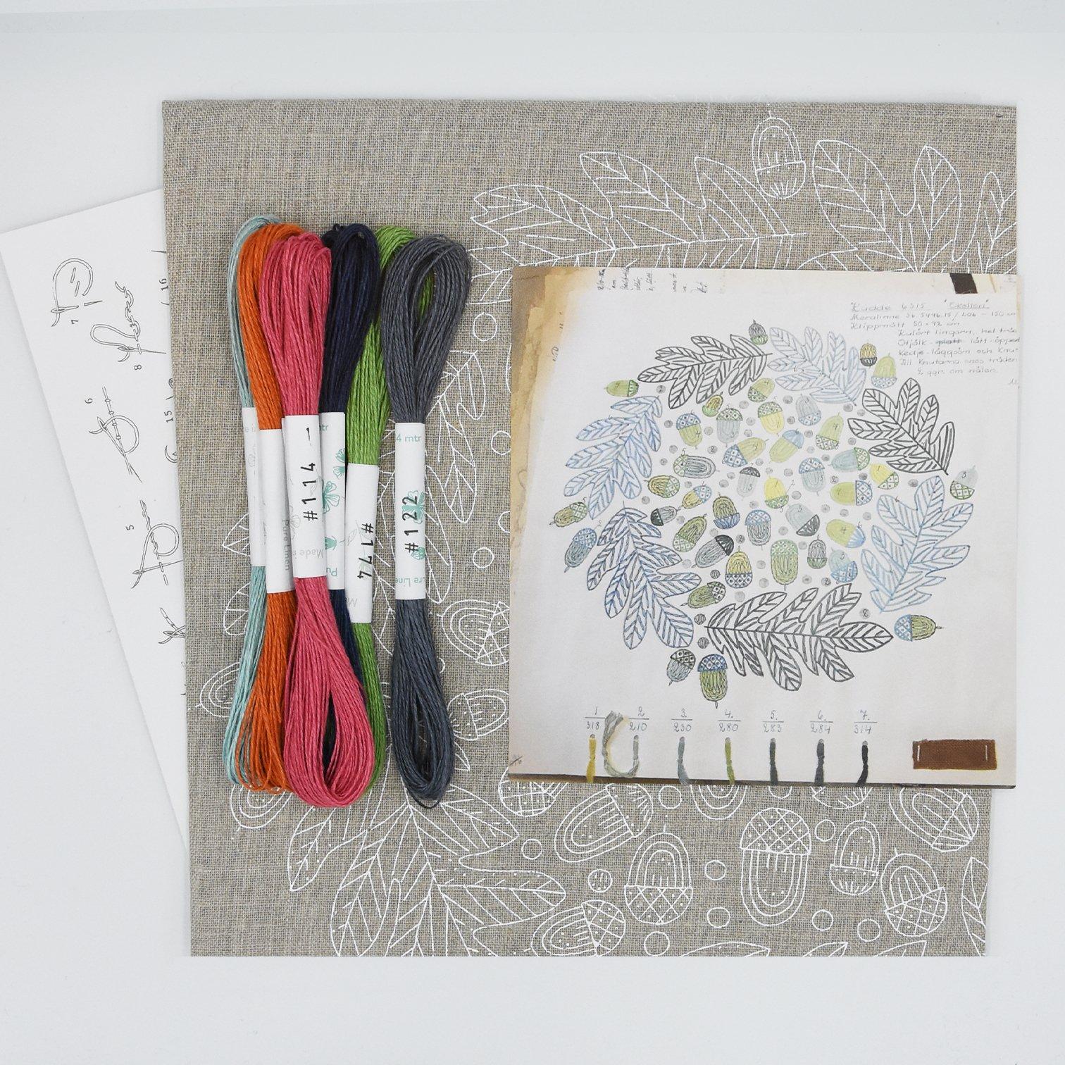 Linladan - Acorn - Swedish Embroidery Kit 27