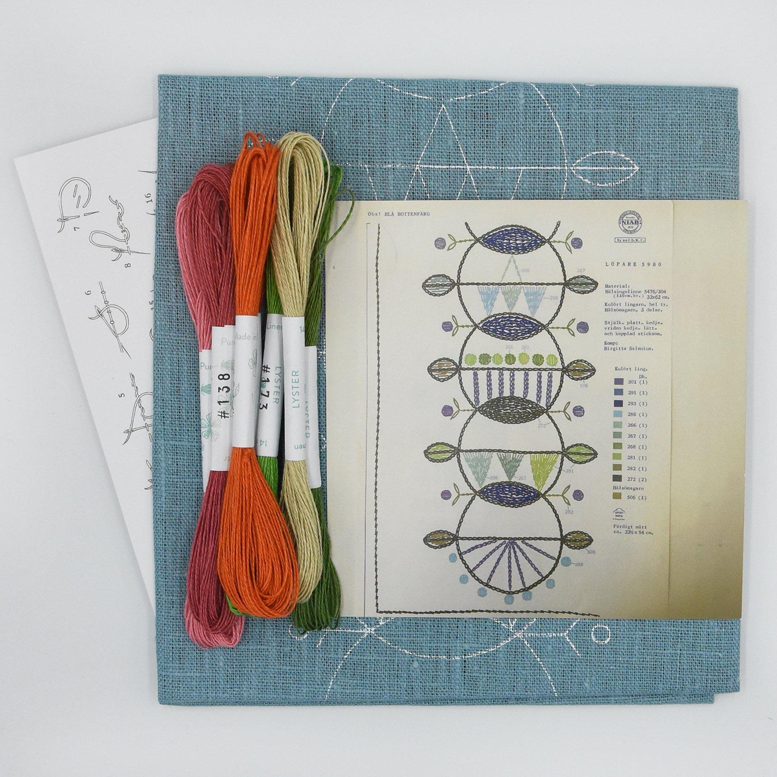 Linladan - Circle Chain 5980 - Swedish Embroidery Kit 31