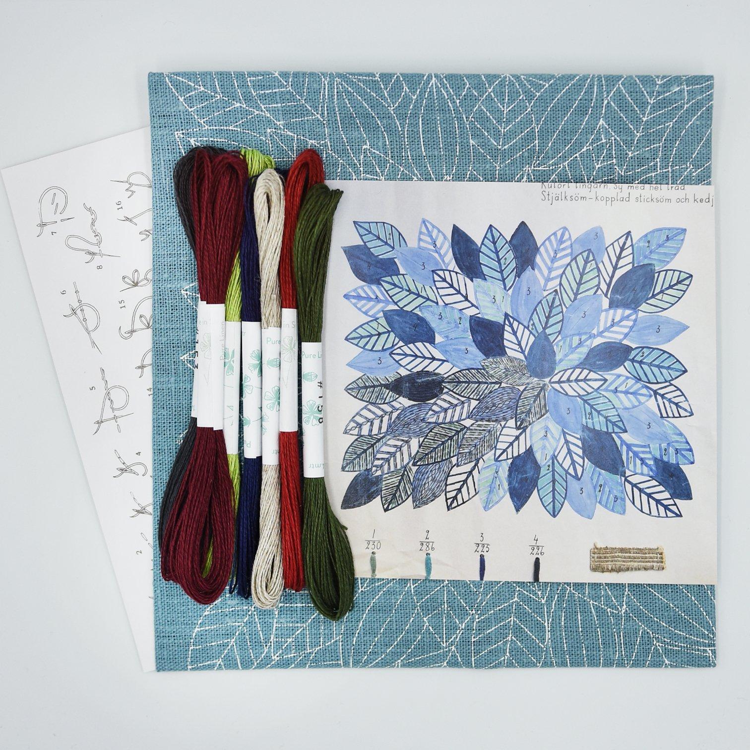 Linladan - Leaves 6193 - Swedish Embroidery Kit 37
