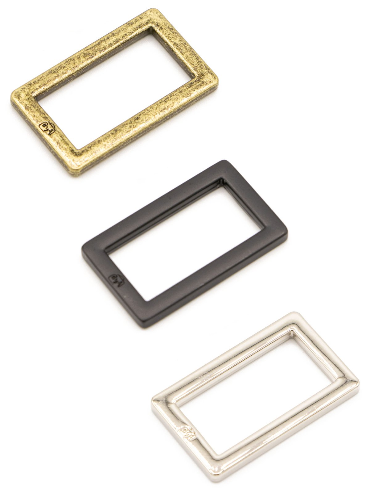 ByAnnie - Purse Parts - 1 Rectangle Ring Flat - Nickel