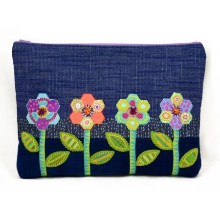 Sue Spargo - Zinnia Zip Bag - Pattern