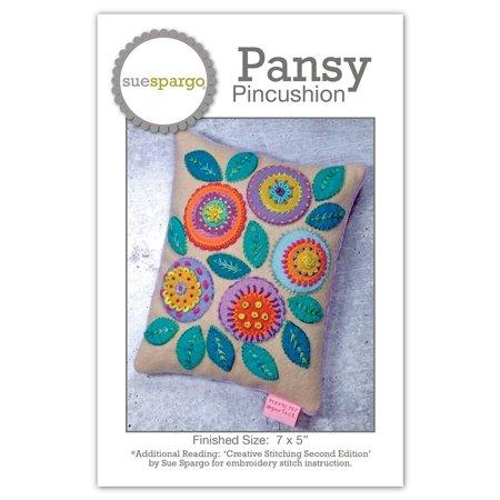 Sue Spargo - Pansy Pincushion Pattern
