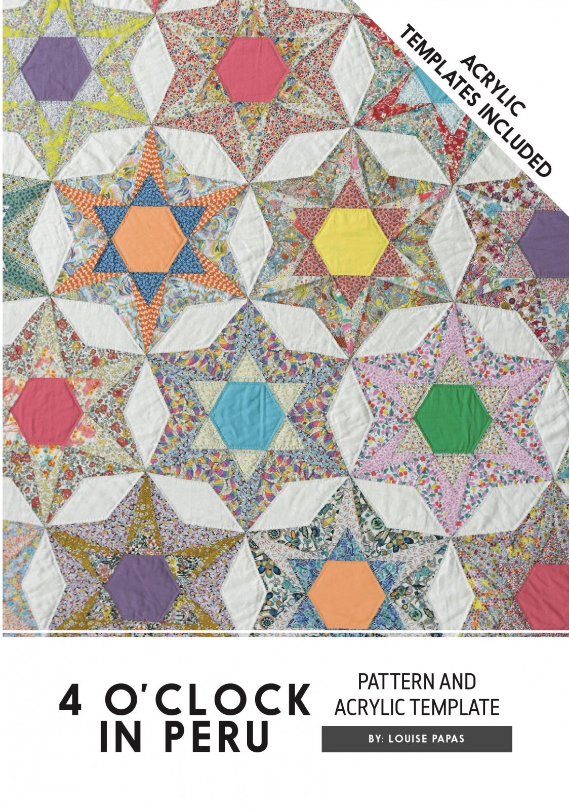 4 O'Clock In Peru Pattern And Acrylic Templates by Louise Papas