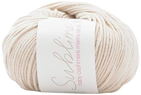 Sublime yarn - baby cashmere merino silk dk - 50g/116m - Flopsy White