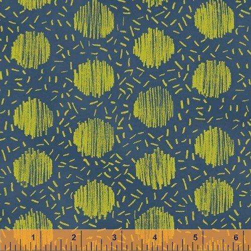 Windham Fabrics - Natalie Barnes - Homeward - Sketch Spot - Blue