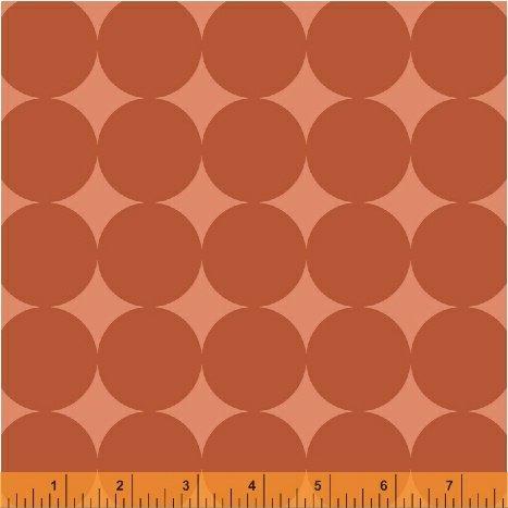 Windham Fabrics - Janine Vangool - Uppercase Vol 3 - Circular Logic - Large Spot - Terracotta