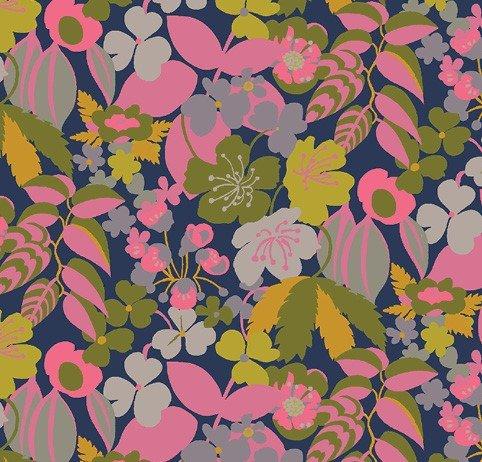 Windham Fabrics - Sally Kelly - Solstice - Pink Retro Flora