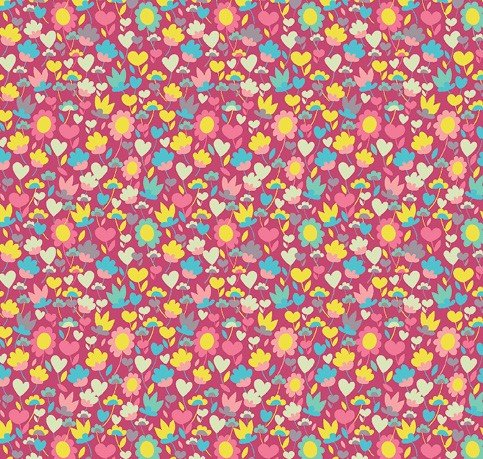 Windham Fabrics - Sally Kelly - Solstice - Pink Packed Floral