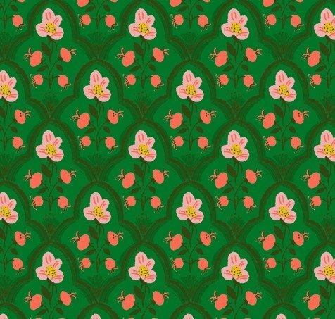 Windham Fabrics - Heather Ross - Malibu - Flowers Green & Pink