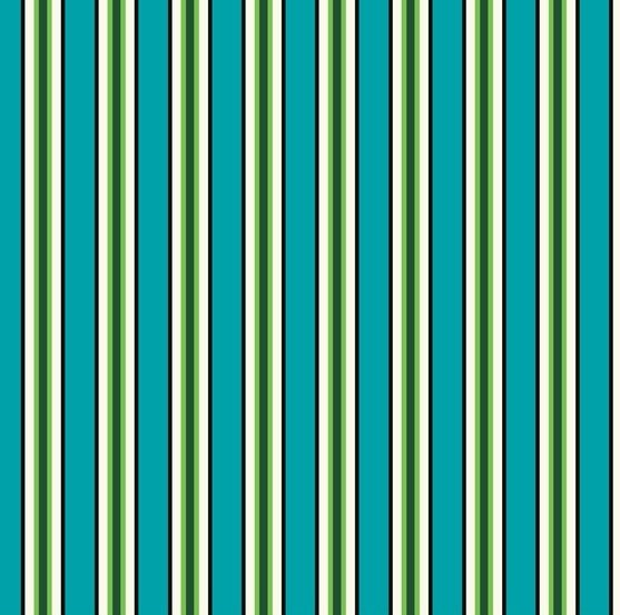 Windham Fabrics - Denyse Schmidt - Five and Ten - Candy Stripe Cyan