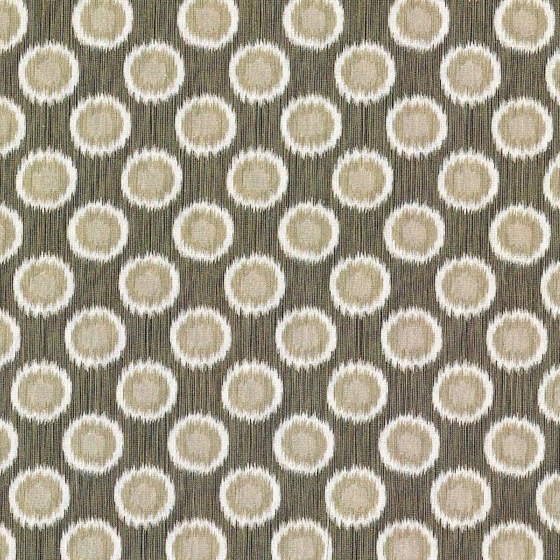 In The Beginning Fabrics - Mini Ikats - Circles - Taupe