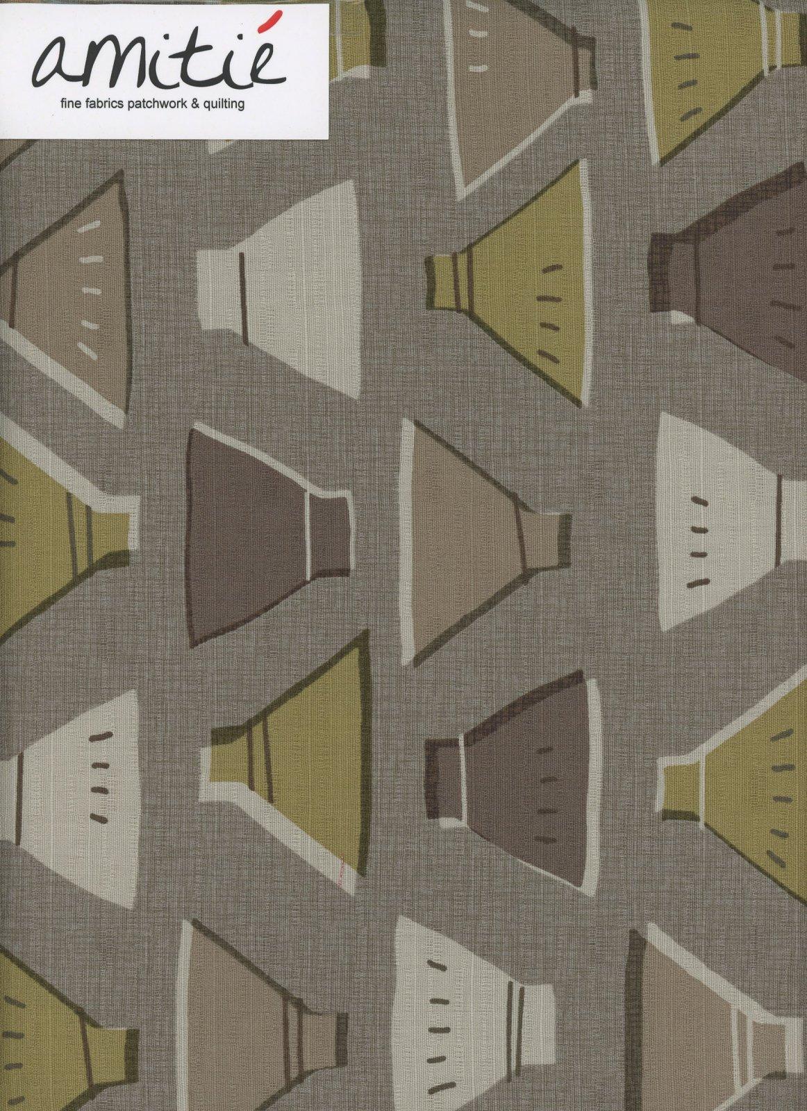 Lecien - Etoffe Imprevue - Bowls - Brown/Green