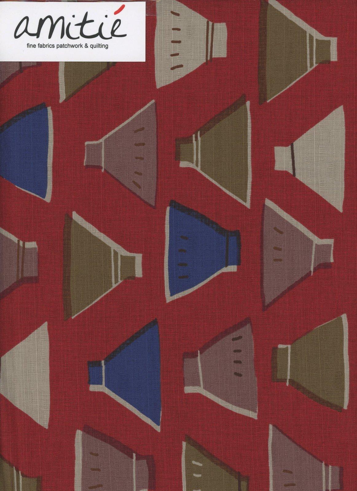 Lecien - Etoffe Imprevue - Bowls - Red/Blue/Brown