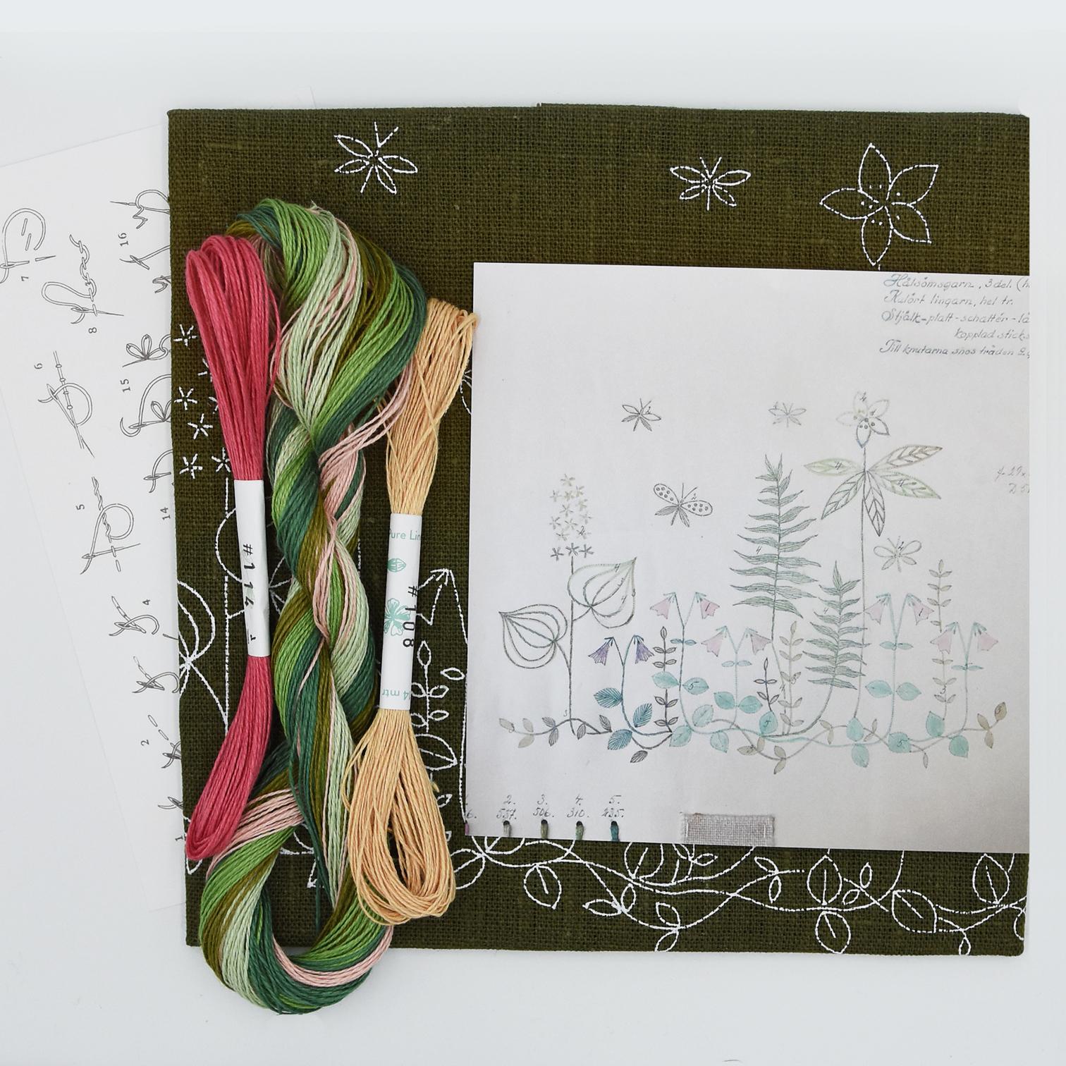 Linladan - Linneaus - Swedish Embroidery Kit 72