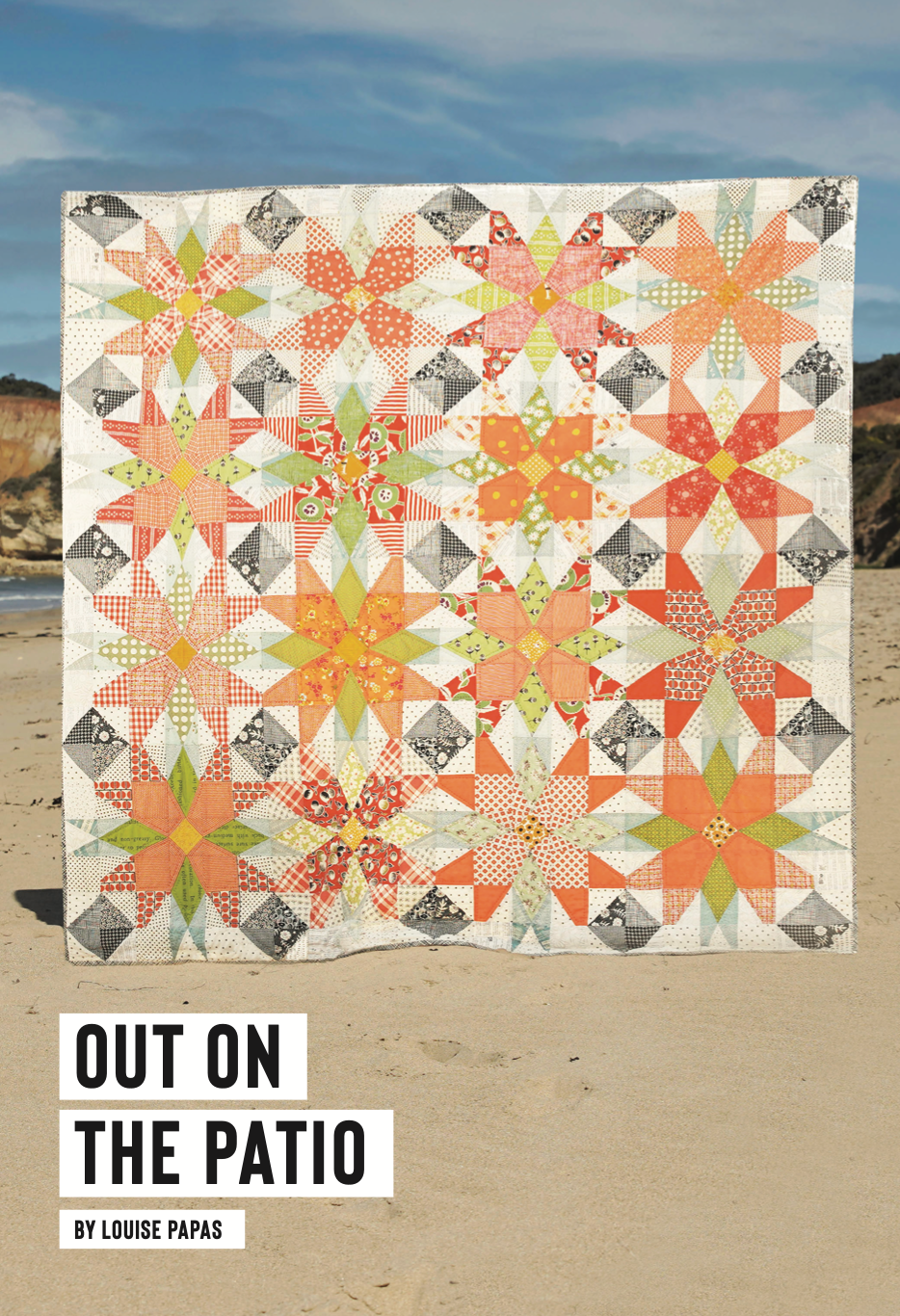 Out On The Patio by Louise Papas Kit - Fabric & Pattern