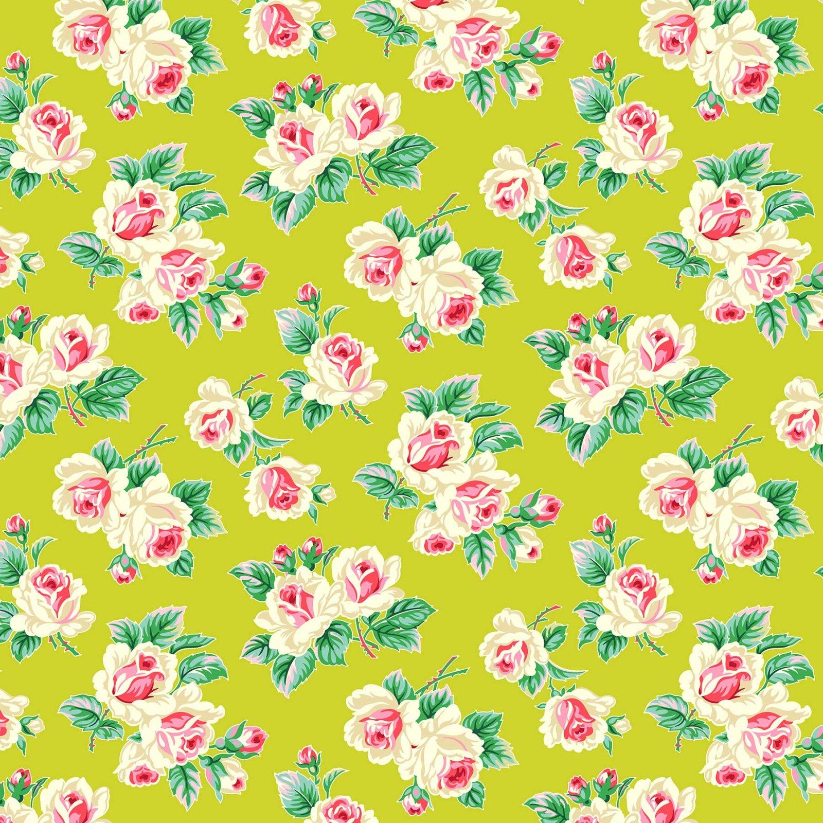 Figo Fabrics - Heather Bailey - True Kisses - Fling Chartreuse