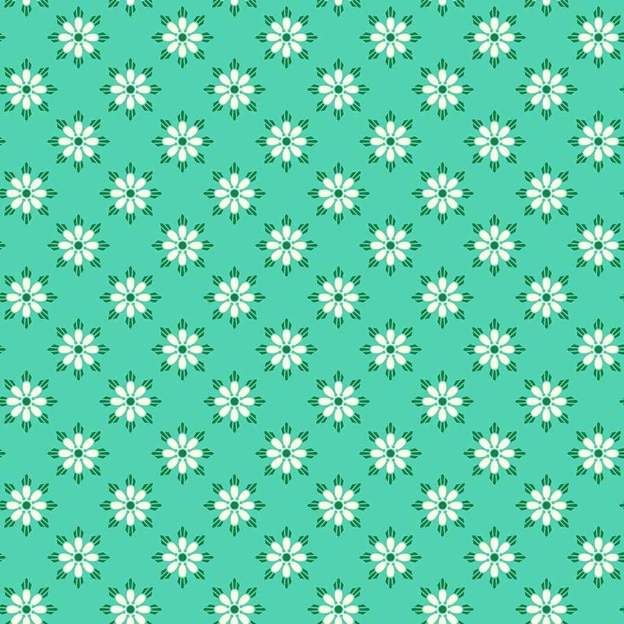 Figo Fabrics - Heather Bailey - True Kisses - Darling Turquoise
