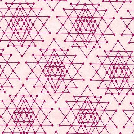 Robert Kaufman - Violet Craft - Palm Canyon - Geometric Star - Pink