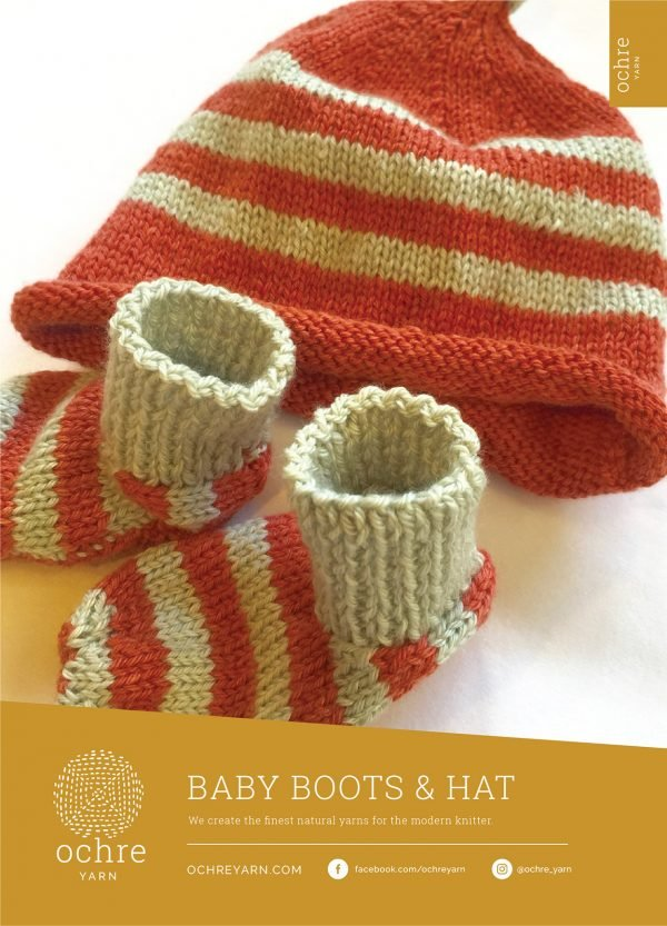 Ochre Yarn - Baby Boots & Hat Pattern