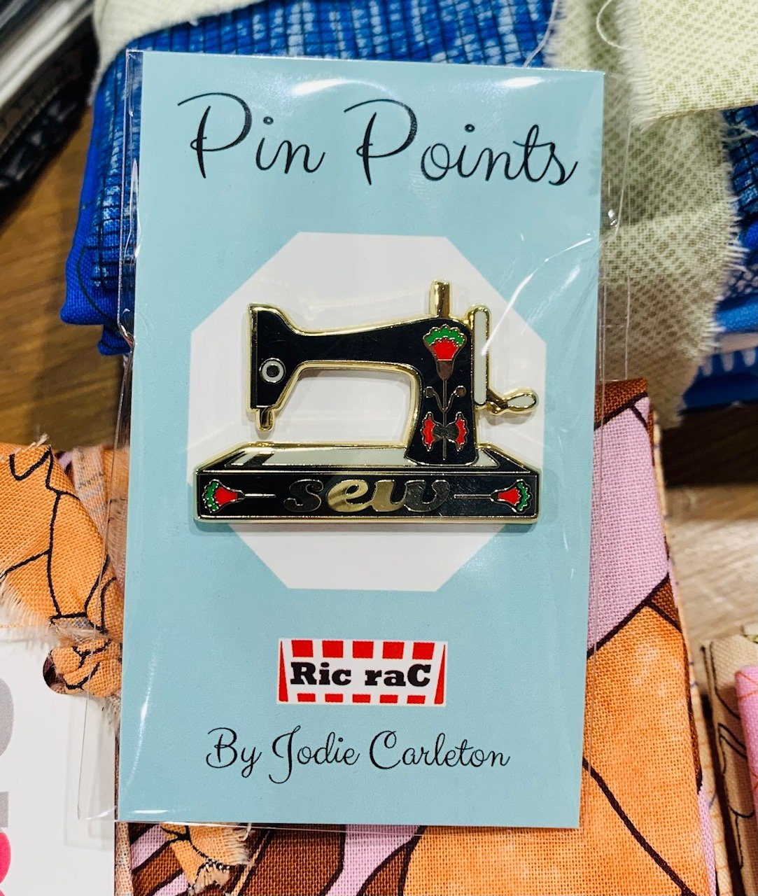Pin Points - Jodie Carleton - Sewing Machine Black