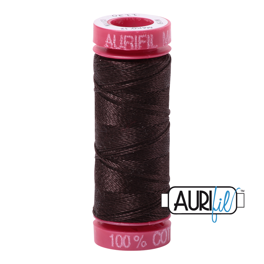 Aurifil 1130 - Very Dark Bark