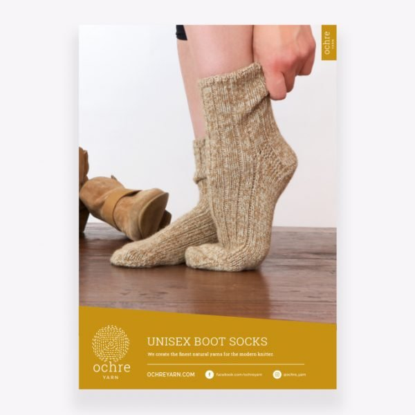 Ochre Yarn - Unisex Boot Socks Pattern