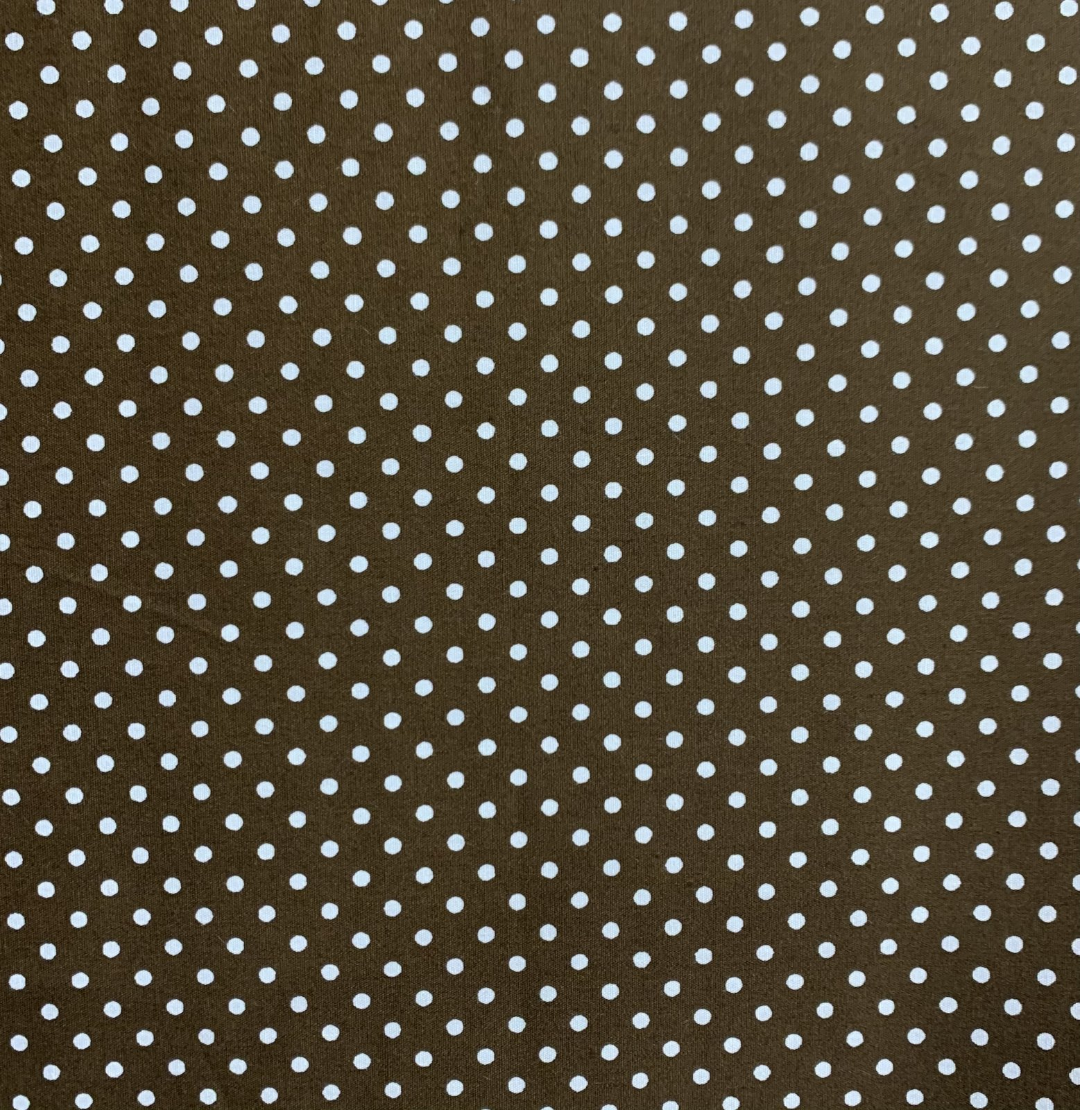 Japanese - Printed Poplin - Small Spots - Brown