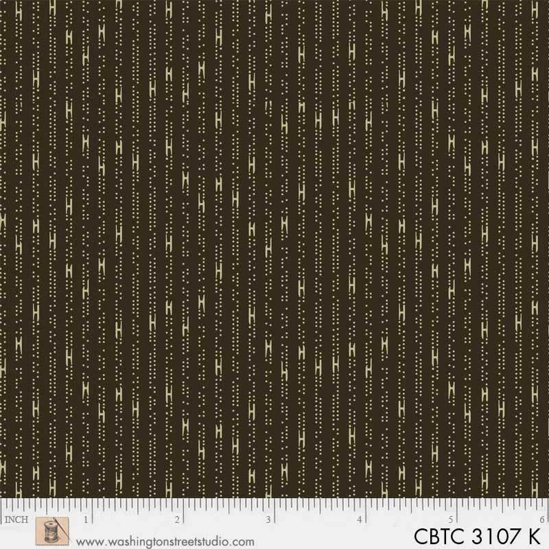 Washington Street Studio - Classic Black Tan Collection - Dot Stripe - Brown