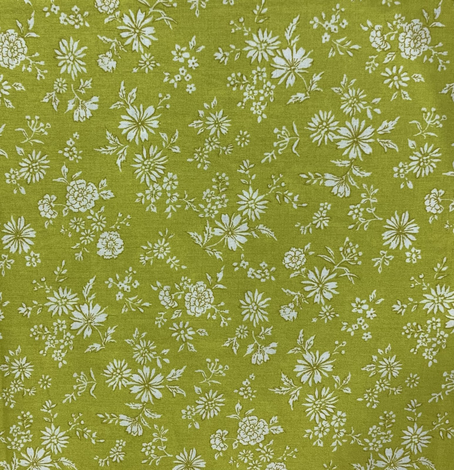 Japanese Fabric - Chartreuse Floral