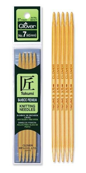 Clover 16cm Takumi Knitting Needles 4.5mm