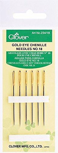 Clover Gold Eye Chenille Needles No.18