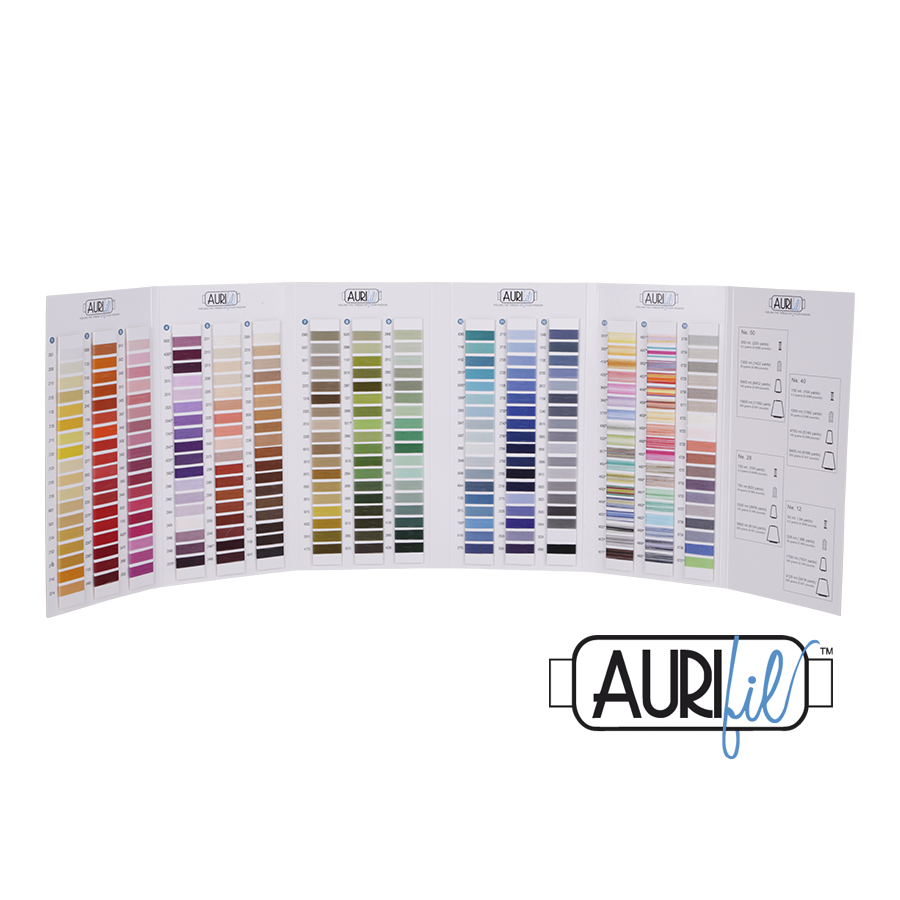 Aurifil Wrapped Cotton Mako Colour Chart