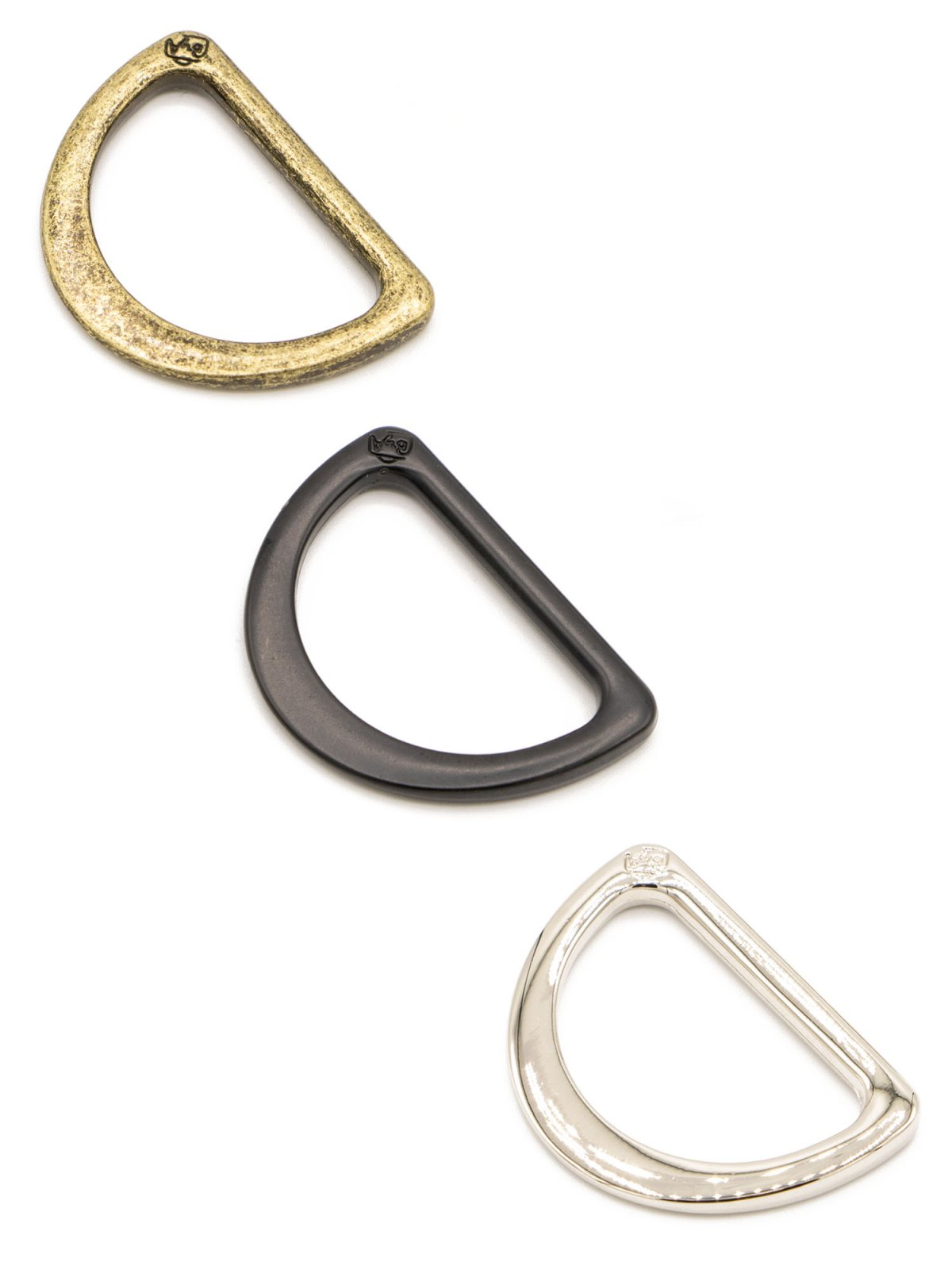 ByAnnie - Purse Parts - 1 D Ring Flat - Black Metal